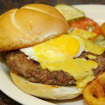 Sunshine Grill Hangover Stuffed Burger