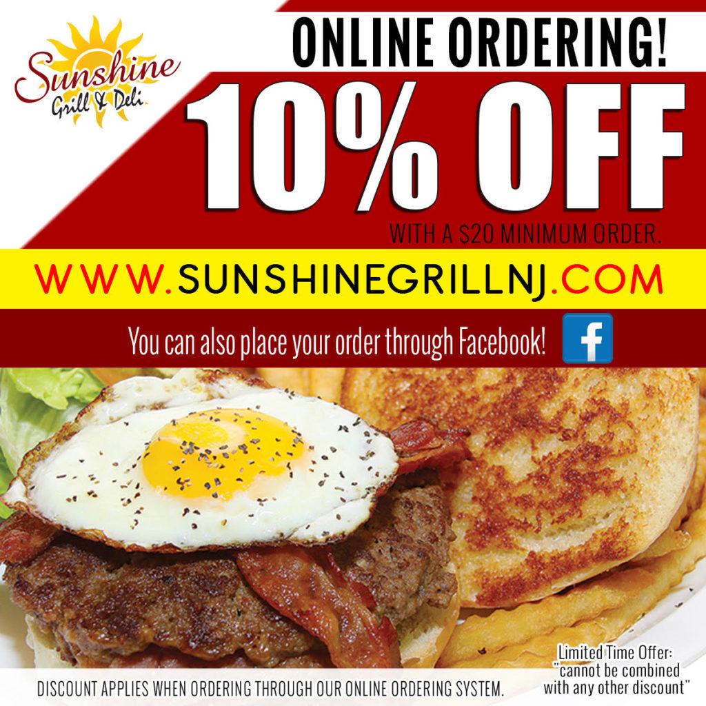 10% OFF Order Online