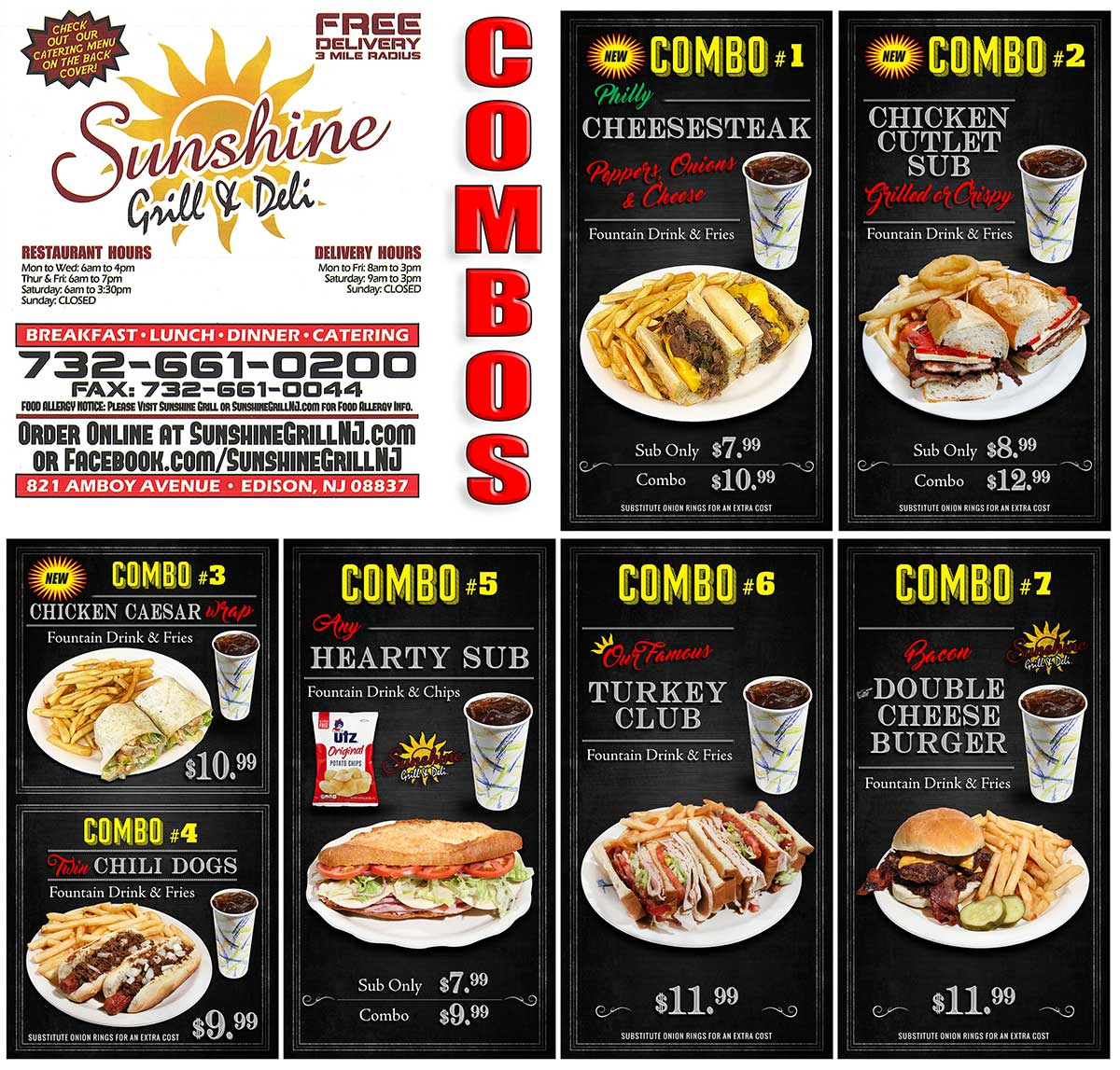 Sunshine's Grill Combos